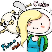 Fionna and cake Icon by Ivy-Desu