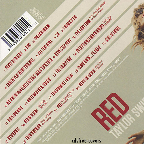Cd Red Taylor Swift By Cdsfree Covers On Deviantart