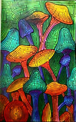 Psychedelic Forest Maze