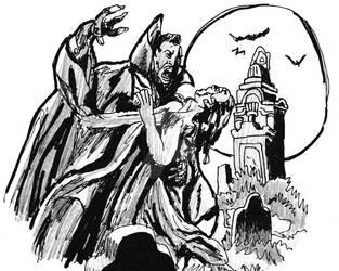 Inktober - 30 - Tomb of Dracula by BeeEmDoubleU