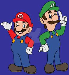 The Mario Bros by BeeEmDoubleU