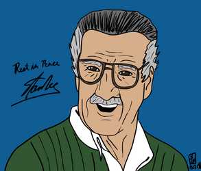 Rest in Peace Stan Lee (1922-2018) by BeeEmDoubleU