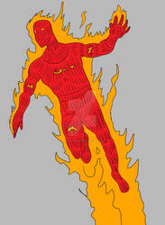 The Human Torch by BeeEmDoubleU