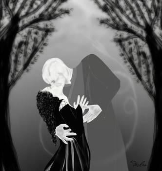 Bellatrix and Voldemort on Beltane