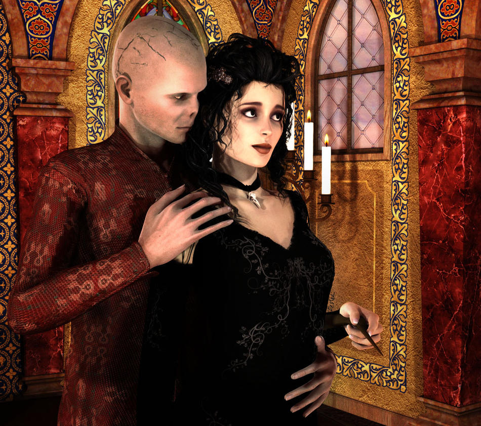 Devil On My Shoulder (Bellatrix/Voldemort) by deslea