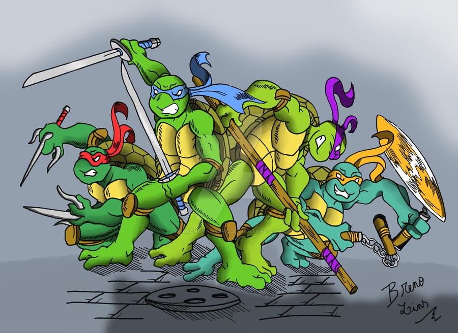 Tartarugas mutantes ninjas by BrenoRanyere