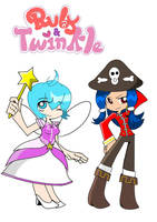 Twinkle and Ruby in psg style by Miralolly