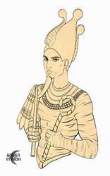 Card Commission: Osiris by Saska-Ithiur