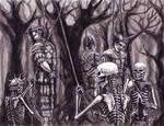 Skeletons Hang