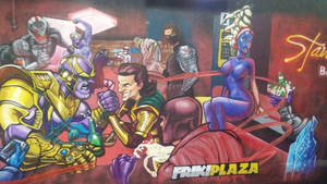 Frikiplaza wall. Picture. by Weird-eye
