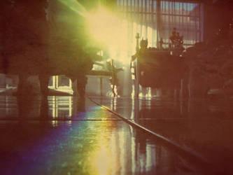 The Rainbow Across the Room. by henrymaxm