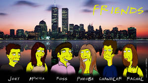 Friends Cast simpsonized by Ulla-Andy