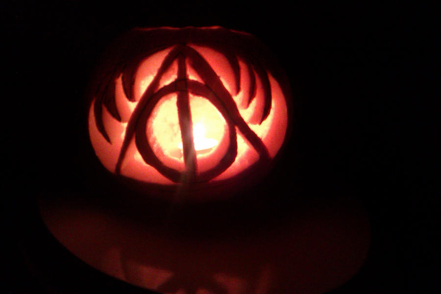 Deathly Hallows Pumpkin Carving Patterns Deathly Hallows Pumpkin by