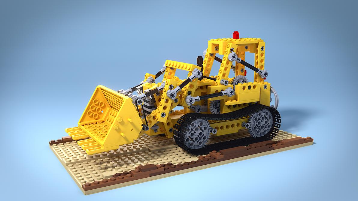 Lego 856 Bulldozer by MrHeinzelnisse