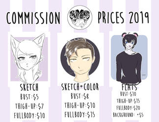 2019 Commission Prices by SushiNomster