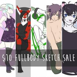 $10 Fullbody Colored Sketch Sale