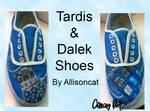 Dalek and Tardis Shoes