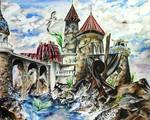 Ariel's Undersea Adventure Exterior Commission