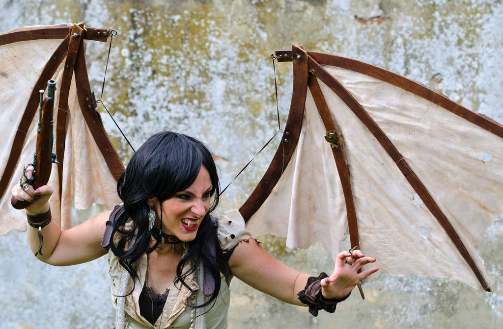 Steampunk Vampire girl by LindyvdBosch