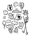 Inktober Day 20: Yoshi's Island Baddies