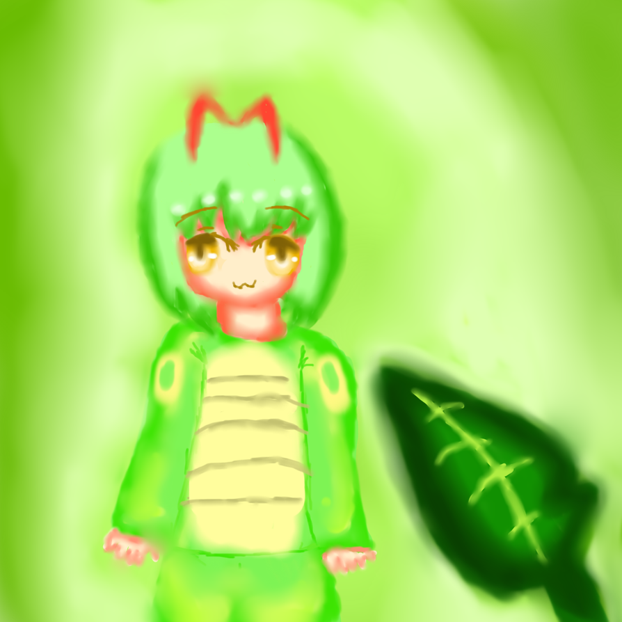 caterpie gijinka by yumethenekomata