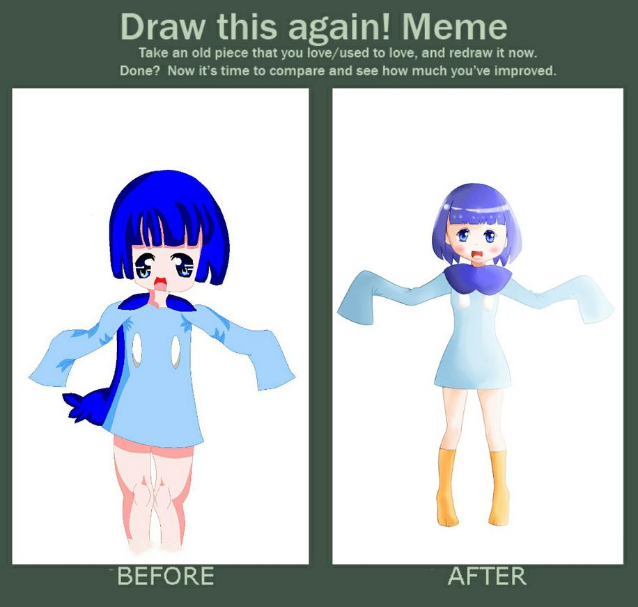 improvement meme piplup gijinka by yumethenekomata