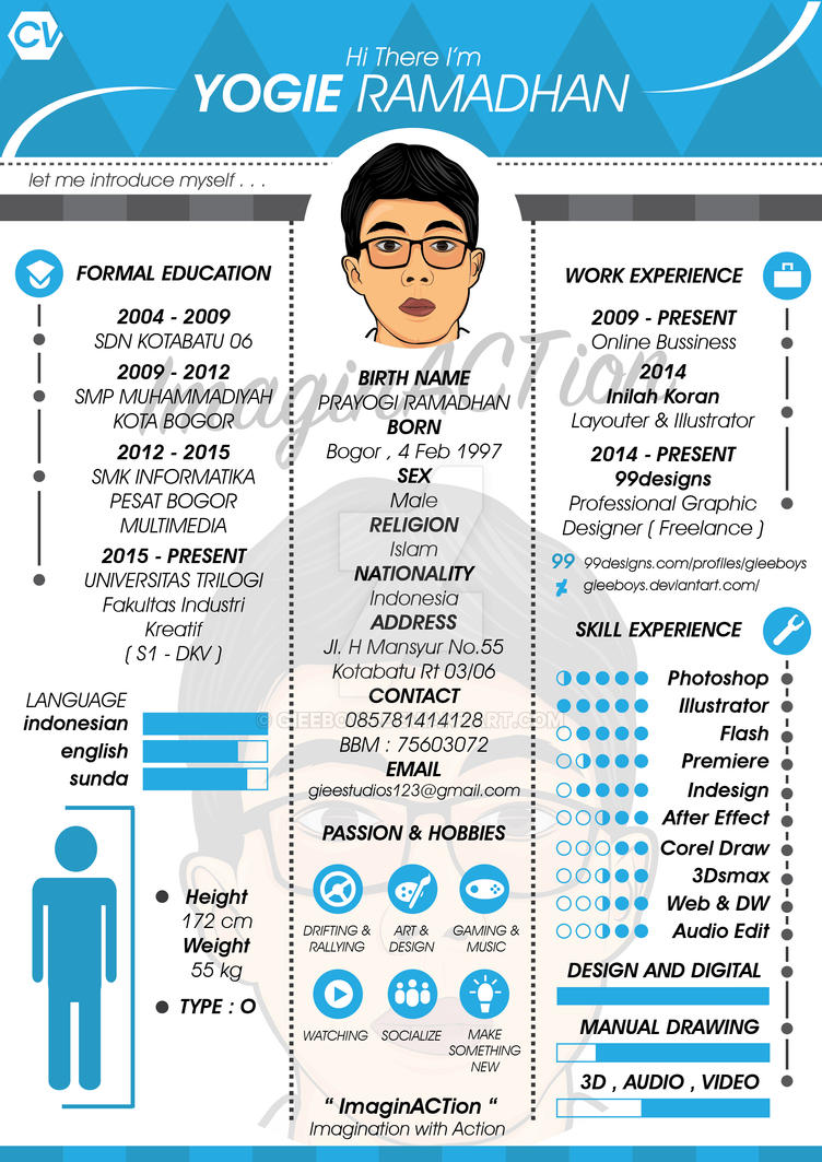 Simple Creative Cv By Gieeboys On Deviantart