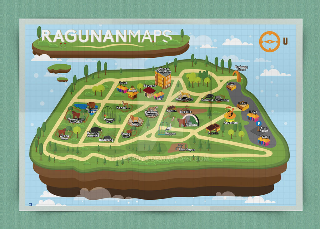 Ragunan Zoo Maps redesign by GieeBoys on DeviantArt on
