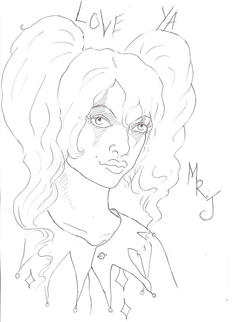 Quinn Line Art : Harley quinn line art by alice time on deviantart
