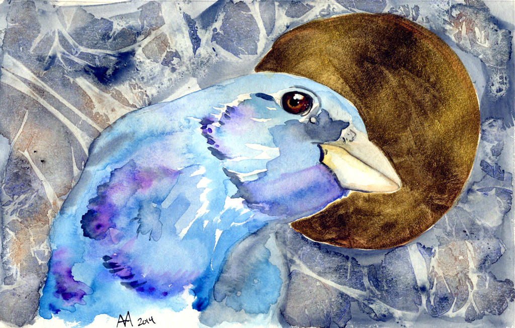 Indigo Bunting by alice-time
