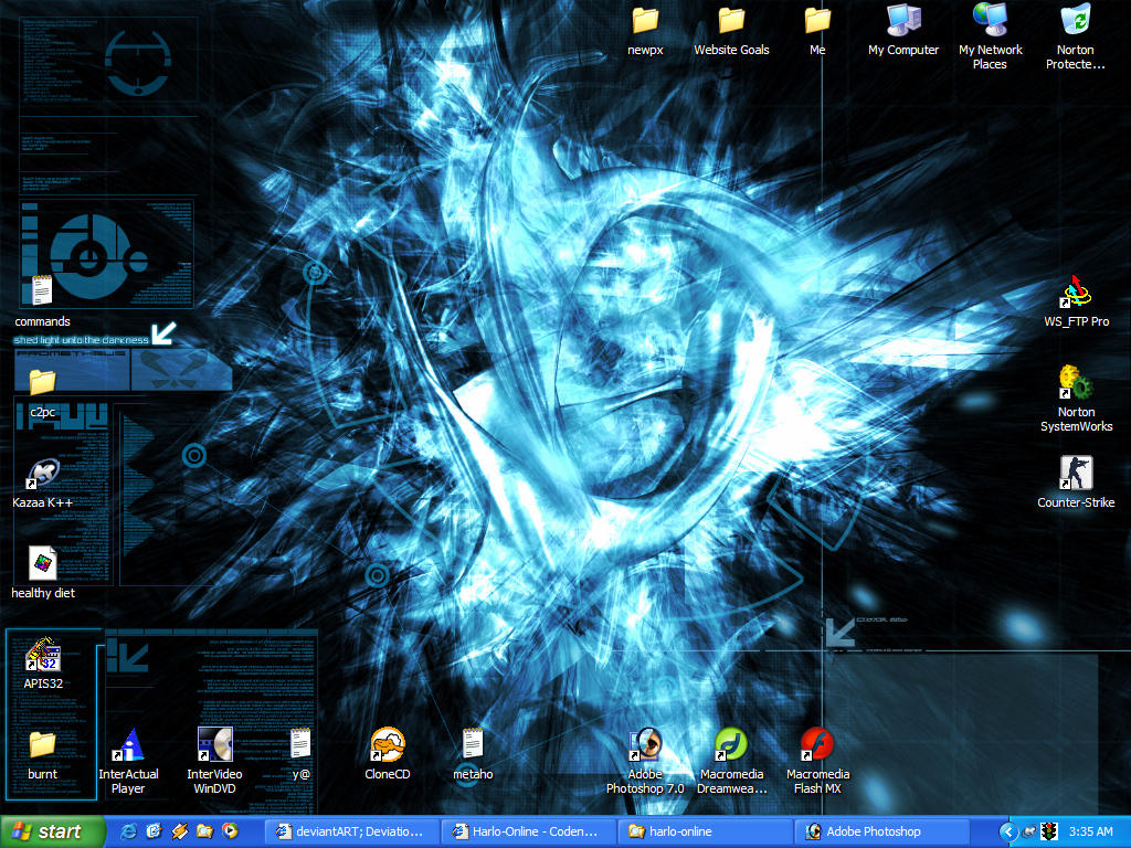 my winxp desktop screenshot by jusayange