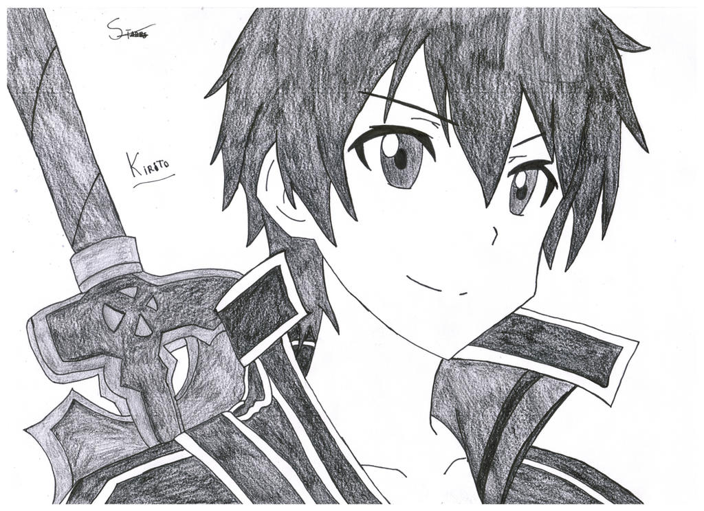Kirito sword art online by stades drawing on deviantart for Draw online