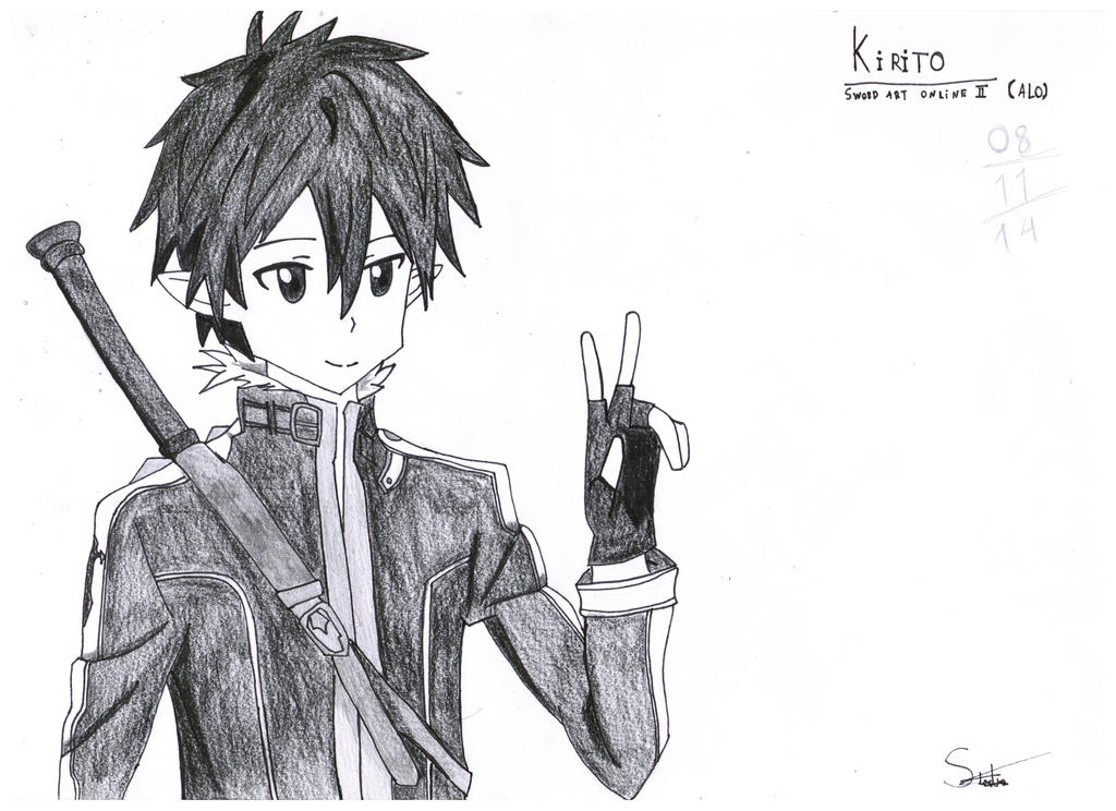 Image gallery kirito drawing for Sketch it online