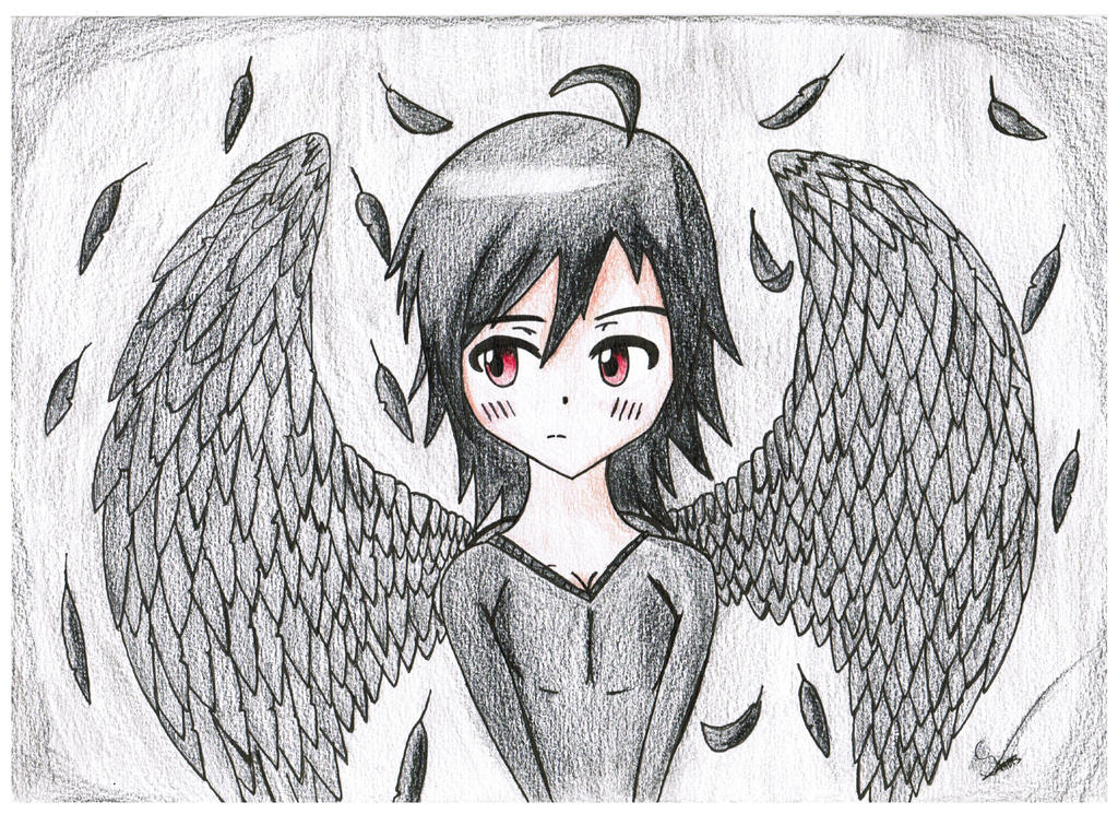 easy dark angel drawings