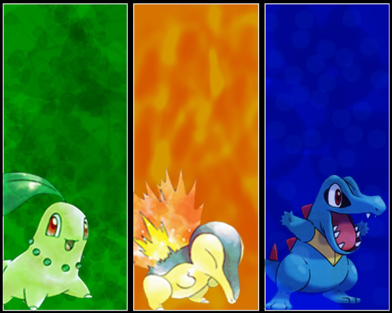 Johto Starters Wallpaper By Kevandre On Deviantart