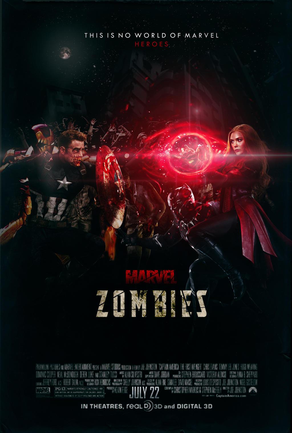 marvel zombies movie poster by numanumaism on deviantart. Black Bedroom Furniture Sets. Home Design Ideas
