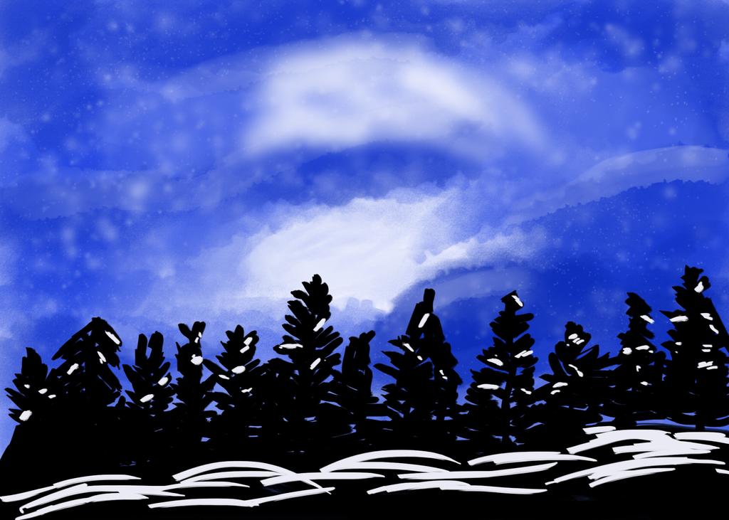 Winter Forest by Yoyodan
