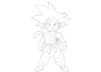 Kid Goku by Yoyodan
