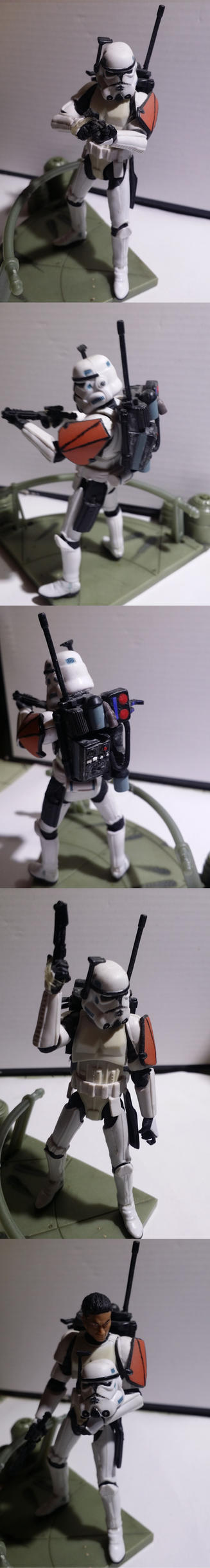 Clone Stormtrooper Commander Omega by EmporerXur
