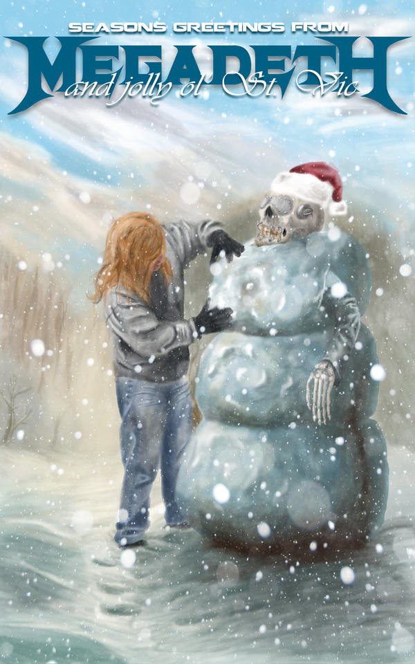 Megadeth Christmas Card Contest 2012 Submission by ModernElements