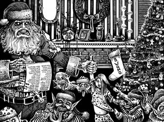 Santa's Naughty List by Tomoran