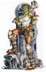 Ork Worker by megamoth