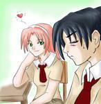 She's staring again - Sasusaku