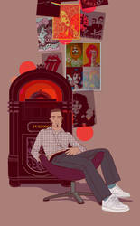 Jukebox room by vikifloki