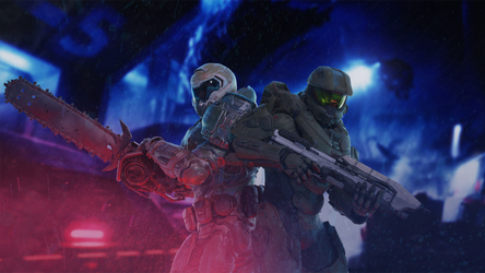 DOOM Guy n' the Chief [1k] by TheDOOMMan