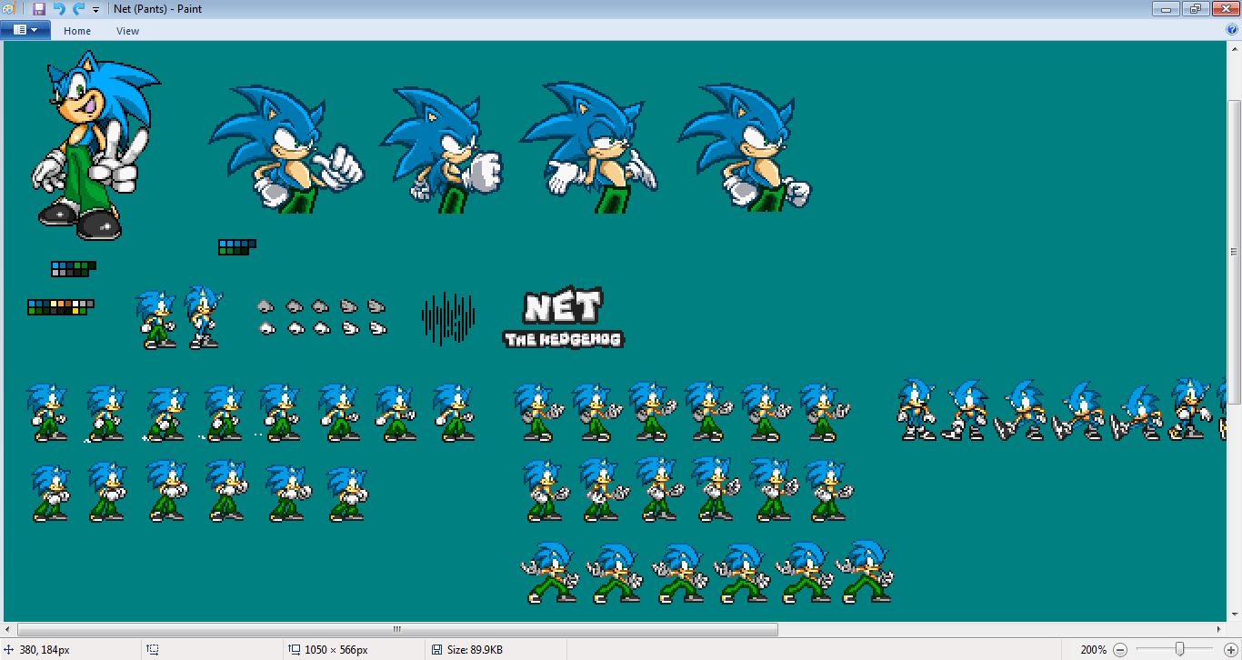 Net the hedghog Sprite Sheet - Screeshot by SonicDBZFan4125