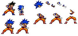 Gokonic (or Soniku) (Goku+Sonic{Fused) by SonicDBZFan4125