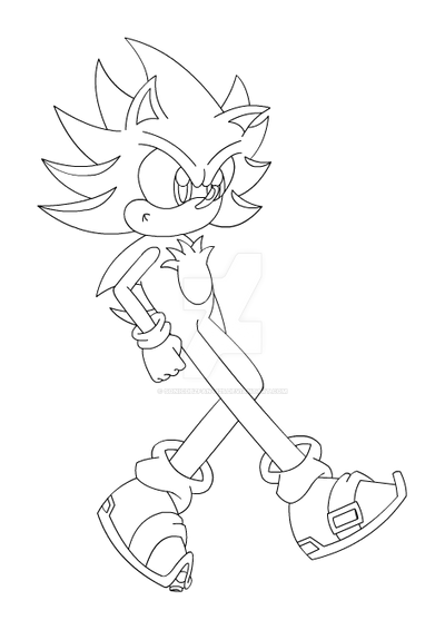 Hyper Shadic (Outline) by SonicDBZFan4125