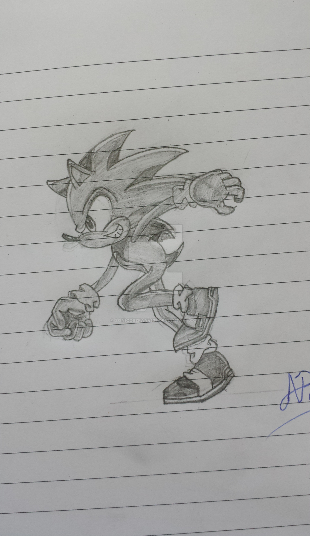 Sonic - Running (Side) by SonicDBZFan4125