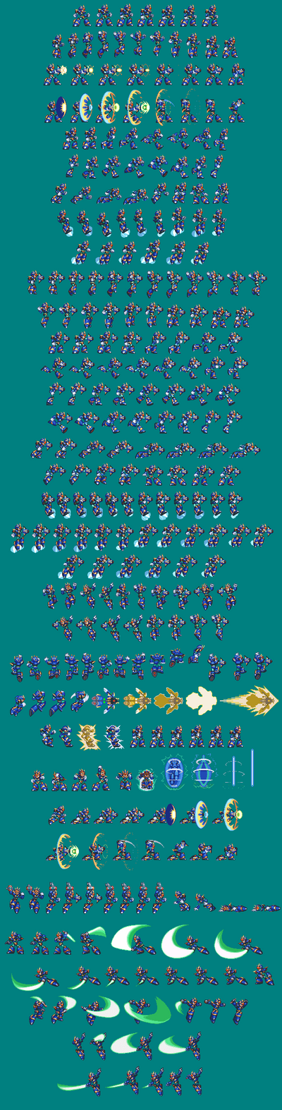 MegaMan X - Ultimate Armour (X5 Colour Palette) by SonicDBZFan4125